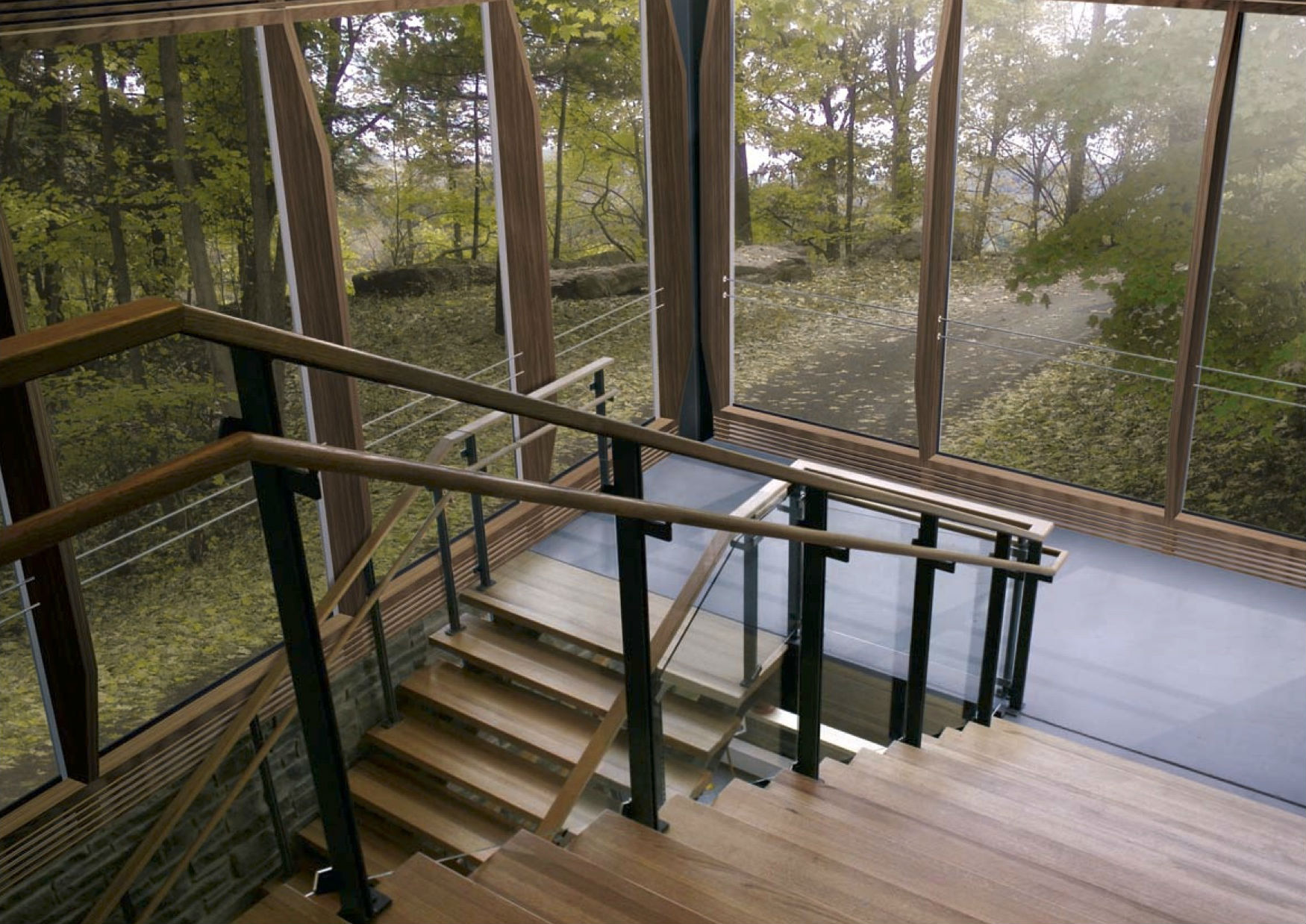 Wood-Aluminum Curtain Wall Systems