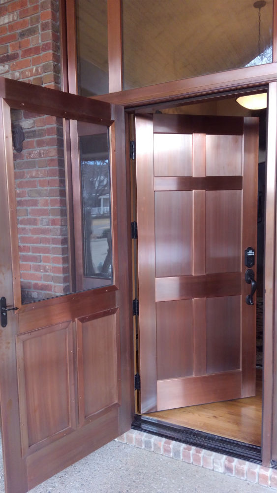 Copper Clad Entry with Screen Door